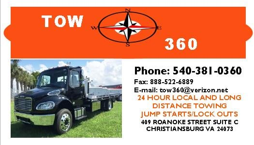 Tow360: 409 Roanoke St, Christiansburg, VA
