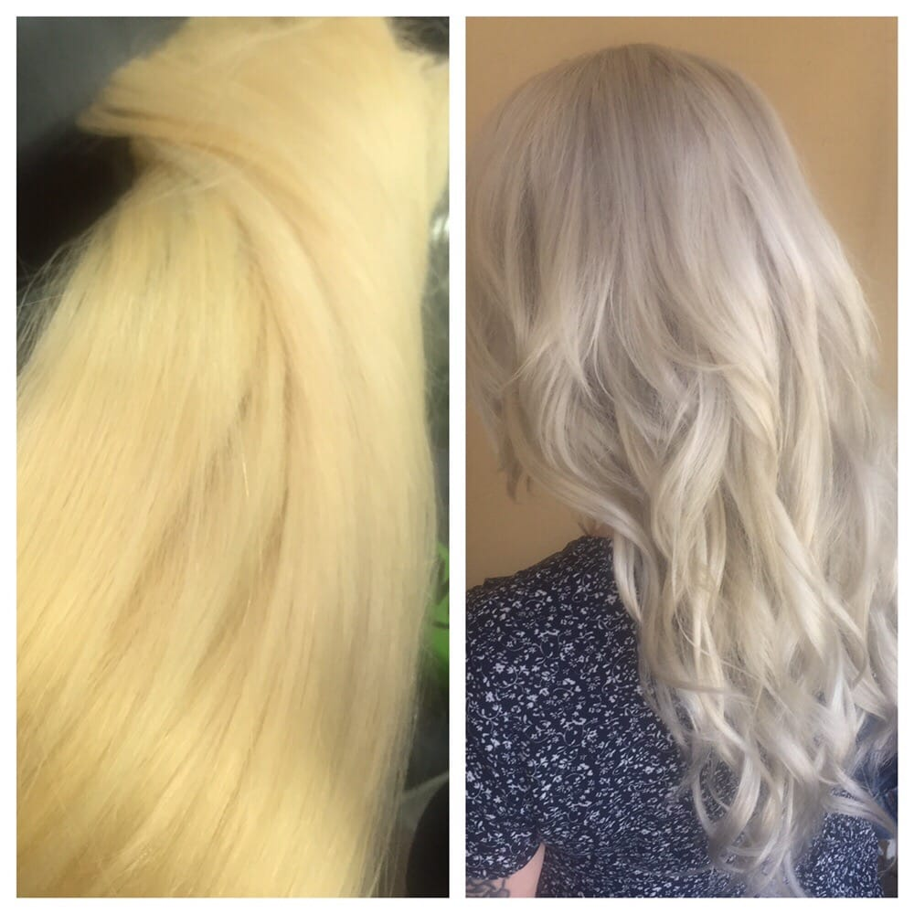 Color Correction Black Hair To Platinum In Three Healthy Process