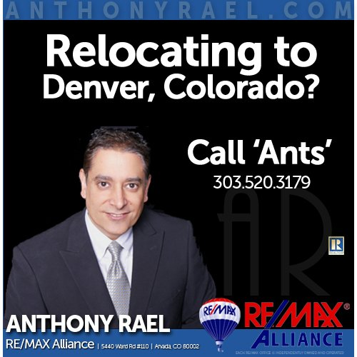 Anthony Rael - RE/MAX Alliance: 5440 Ward Rd, Arvada, CO