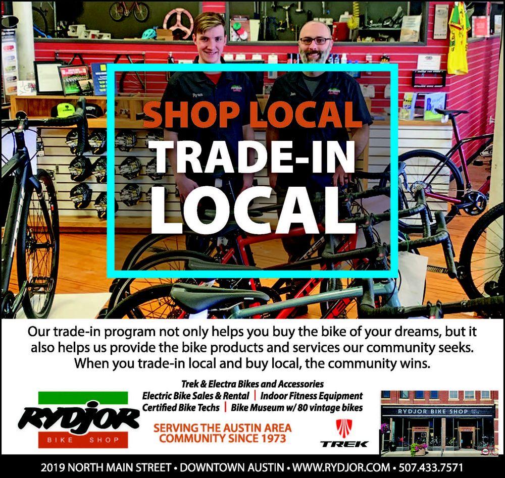 Rydjor Bike Shop: 219 N Main St, Austin, MN