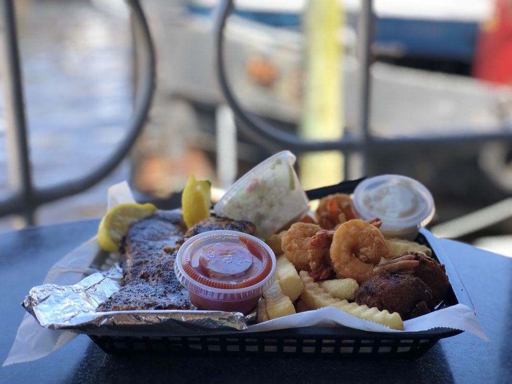 Food from Safe Harbor Seafood