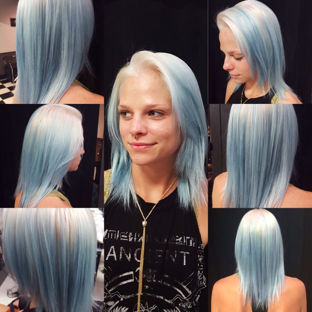 Reverse Ombre From Icy White Blonde To Light Blue Gray Silver