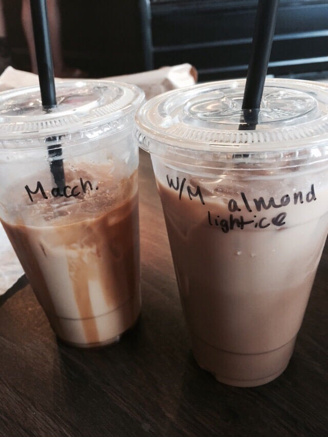 74a72ebc600 The coffee was delicious! Iced White chocolate mocha with almond ...