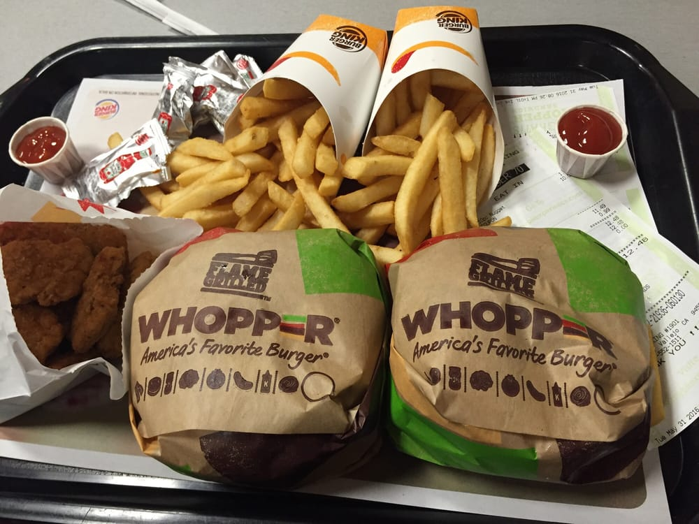 2 for 10 whopper meal + 10 pcs chicken nuggets - Yelp