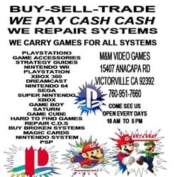 M & m video games victorville ca