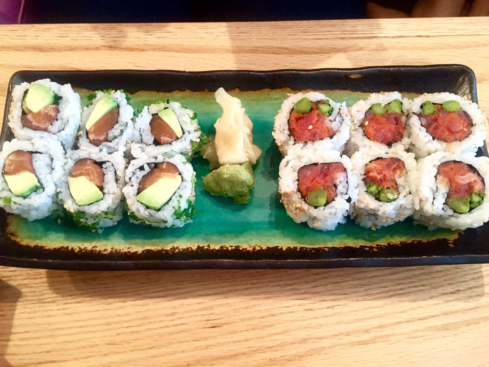 Spicy tuna roll and green fuji roll yelp for Penn ave fish co