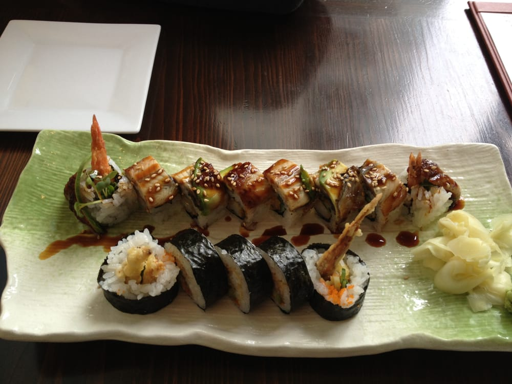 The roll with 8 pieces is about 15 yelp for Asia sushi bar and asian cuisine mashpee