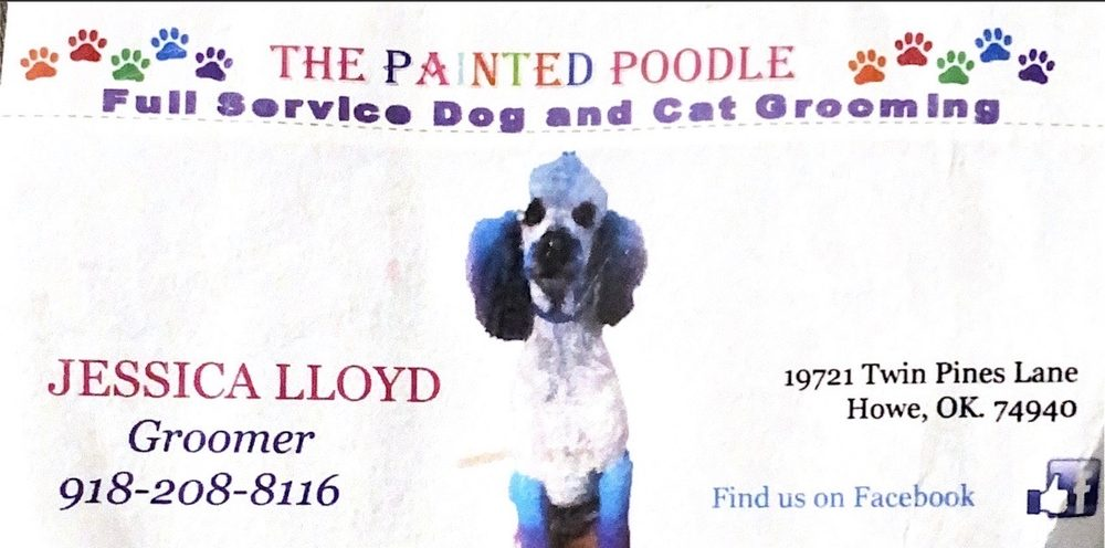 the painted poodle: 19345 Twin Pines Ln, Howe, OK