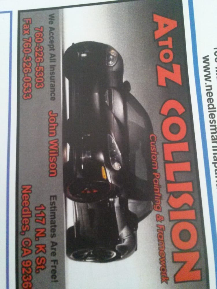 A To Z Collision Center: 8858 Hwy 95, Mohave Valley, AZ
