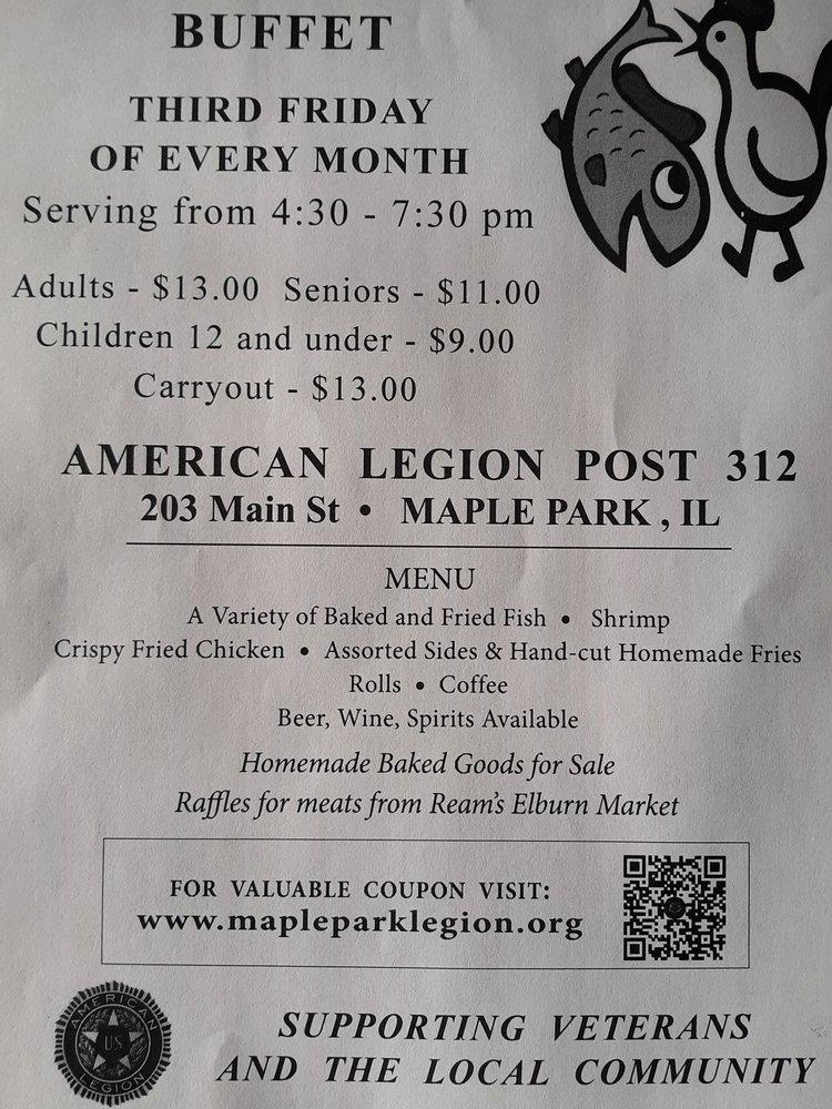 Maple Park American Legion Post 312: 203 Main, Maple Park, IL