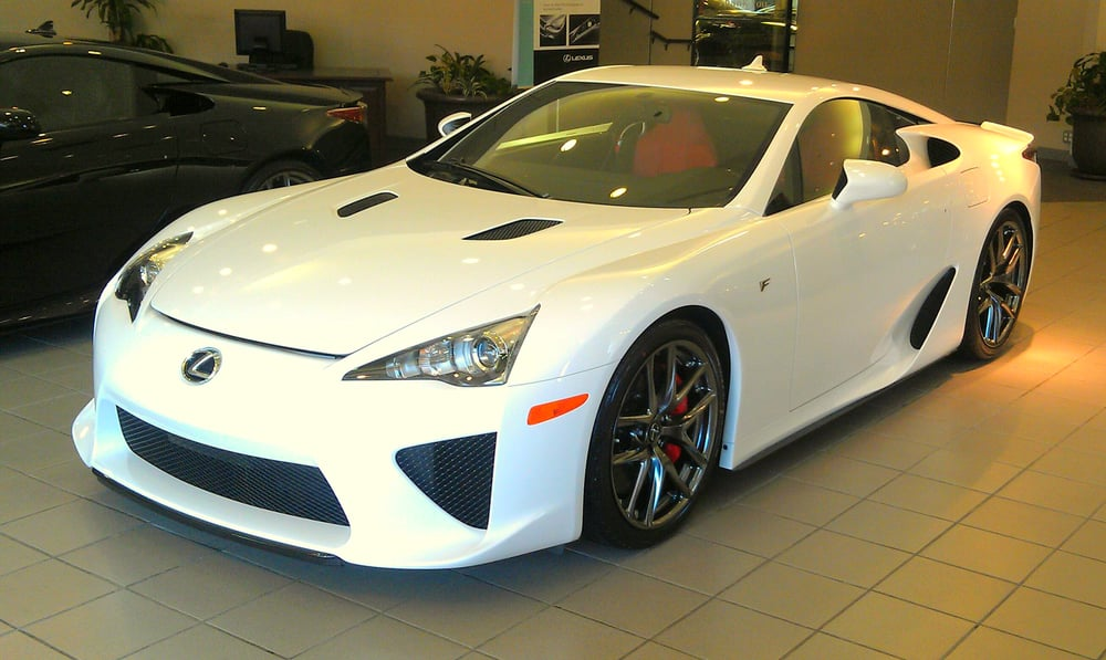 the whitest white lfa with red and black interior resembles the japanese flag with white on. Black Bedroom Furniture Sets. Home Design Ideas