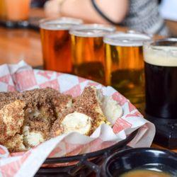 Photo Of Harpoon Brewery Boston Ma United States Cinnamon Sugar Pretzel And