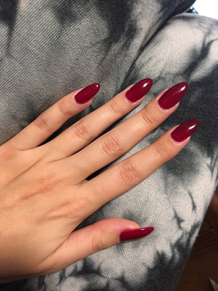 Acrylic set gel color Spiced Berry, thank you Mae! - Yelp
