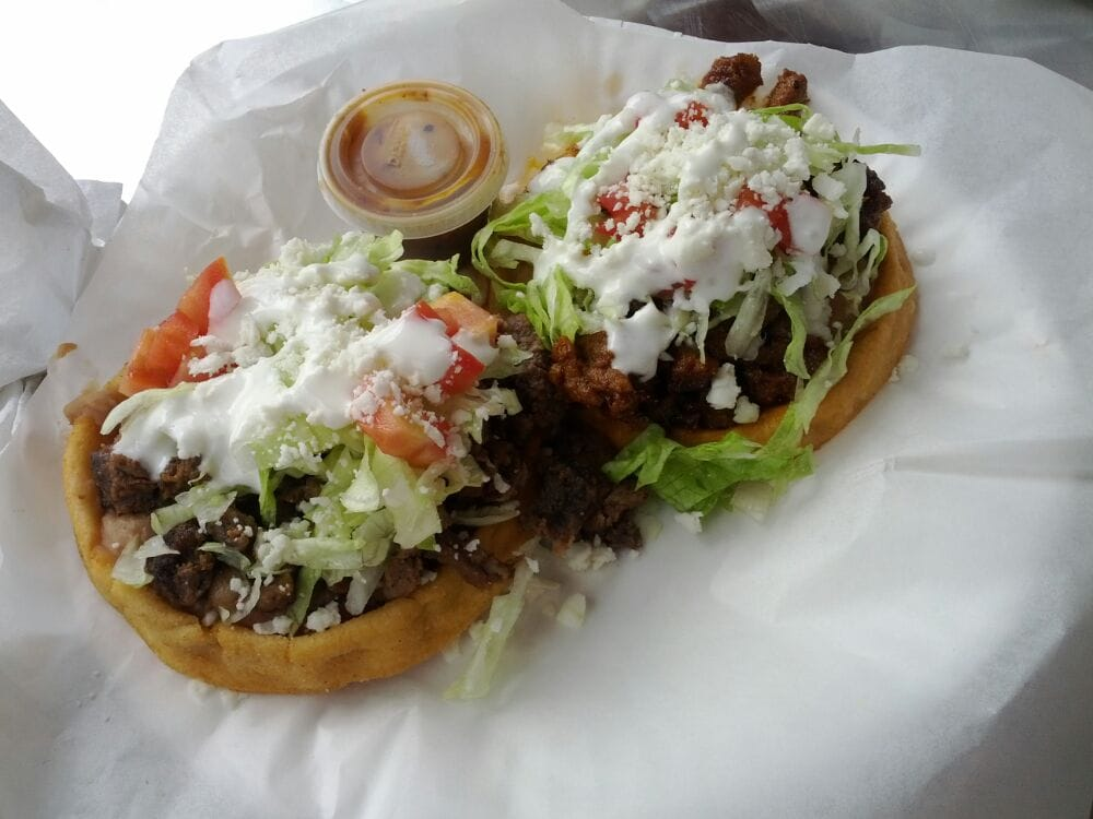 2 Sopes for $4, carne ...