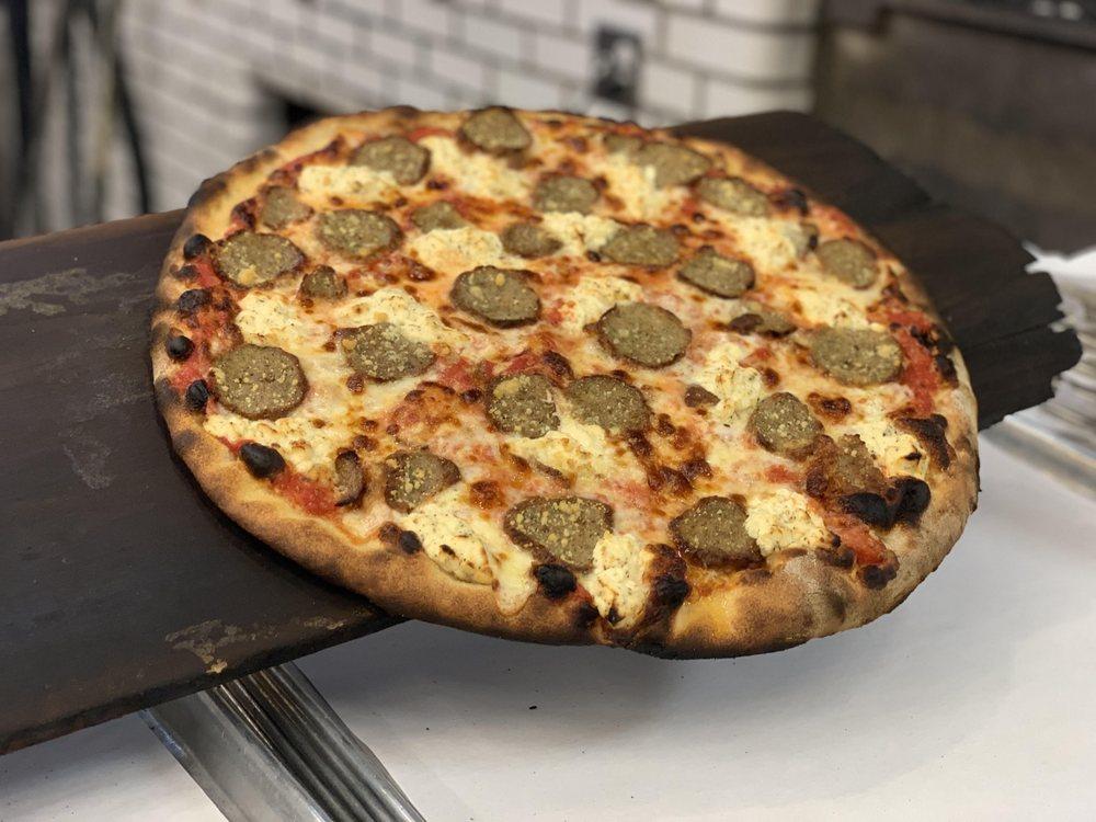 Food from Frank Pepe's Pizzeria Napoletana