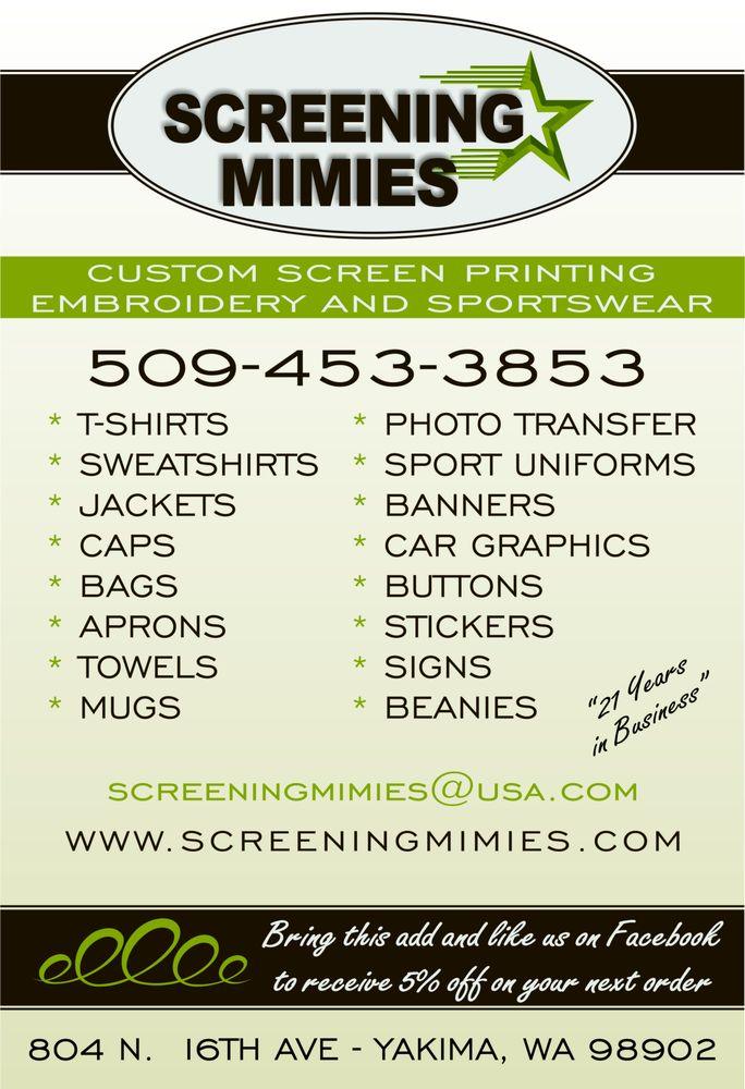 Screening Mimies: 804 N 16th Ave, Yakima, WA