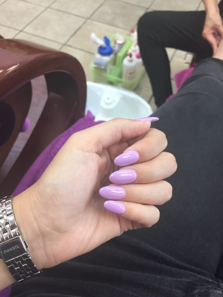 Photo Of Maywood Nails Ca United States Light Purple Almond