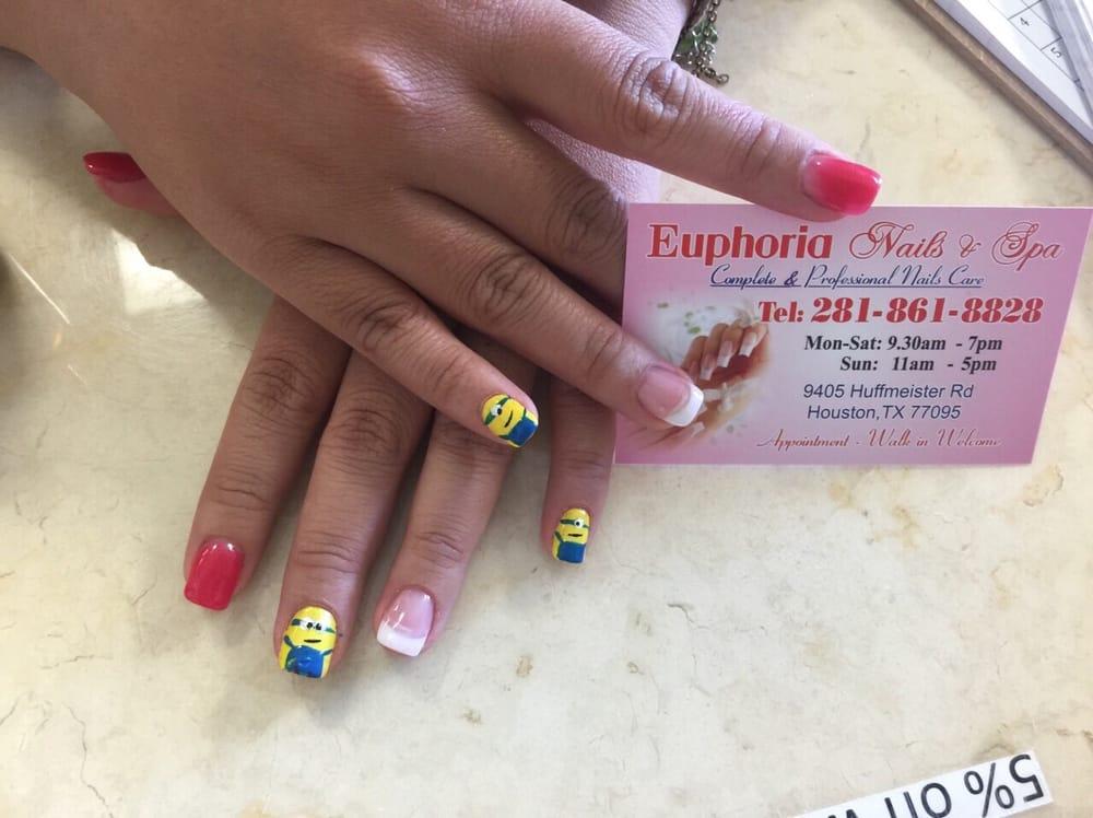 Got my minions nails done yelp for Euphoria nail salon