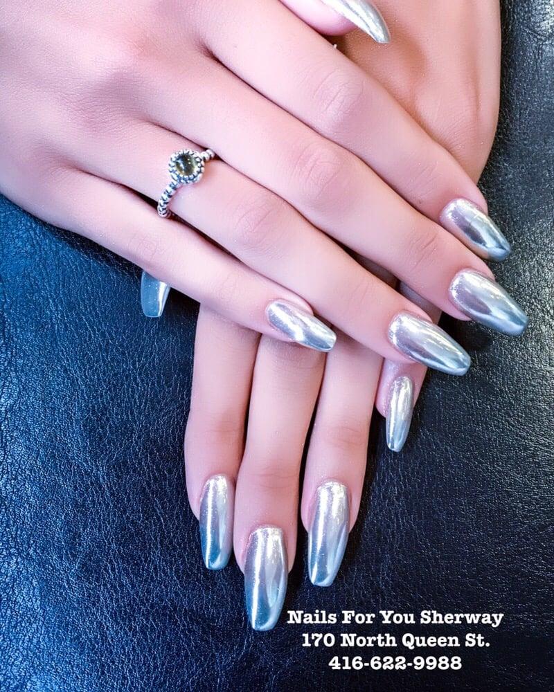 Chrome nails (also called mirror nails, metallic nails) - Yelp