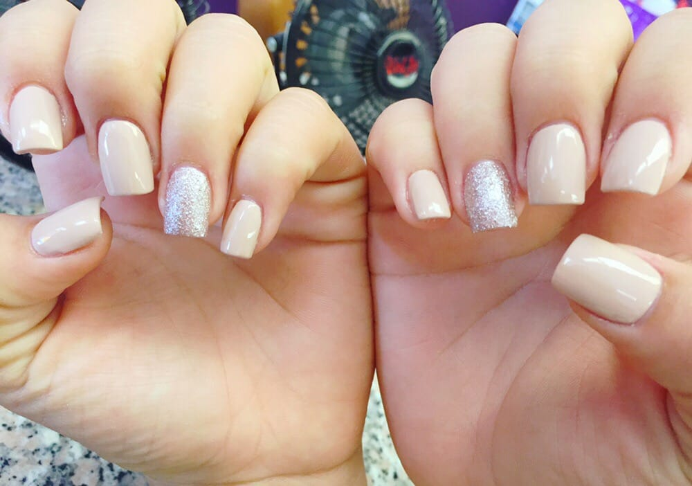 Nude Nails with a little glitter! BEAUTIFUL - Yelp