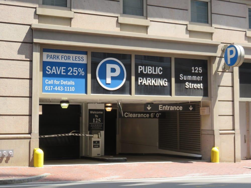 125 Summer Street Garage Parking 125 Summer St Boston