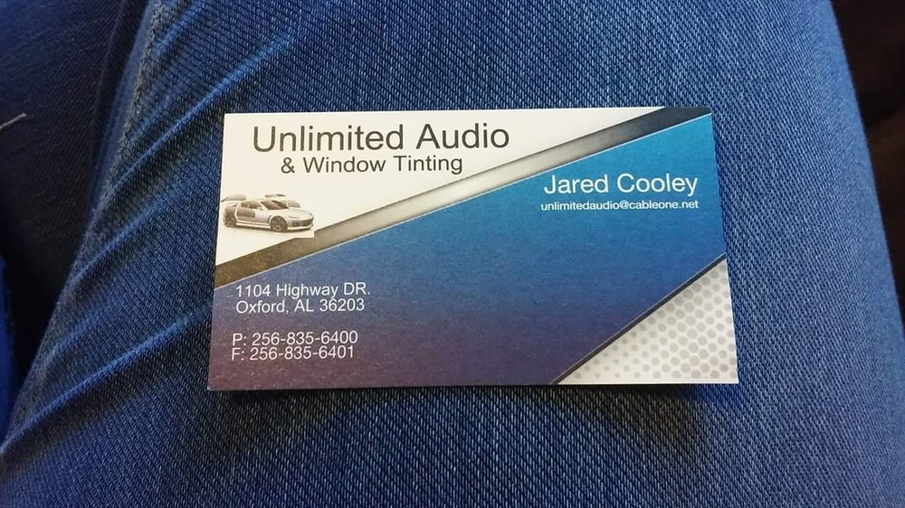 Unlimited Audio & Window Tinting: 1104 Hwy Dr, Oxford, AL