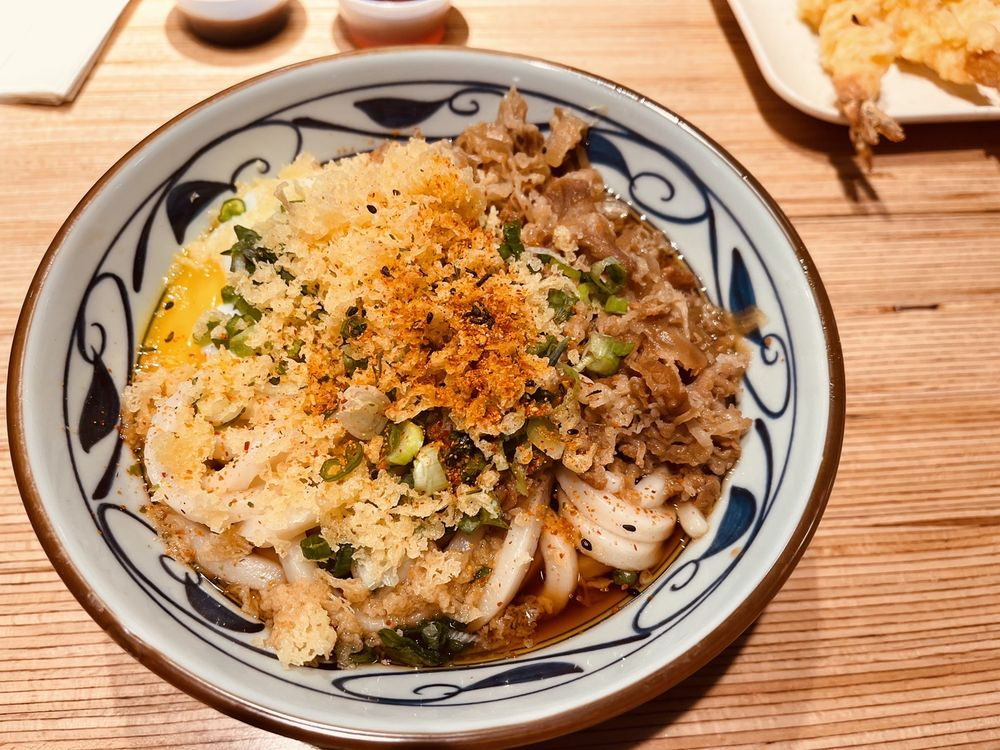 Food from Marugame Udon