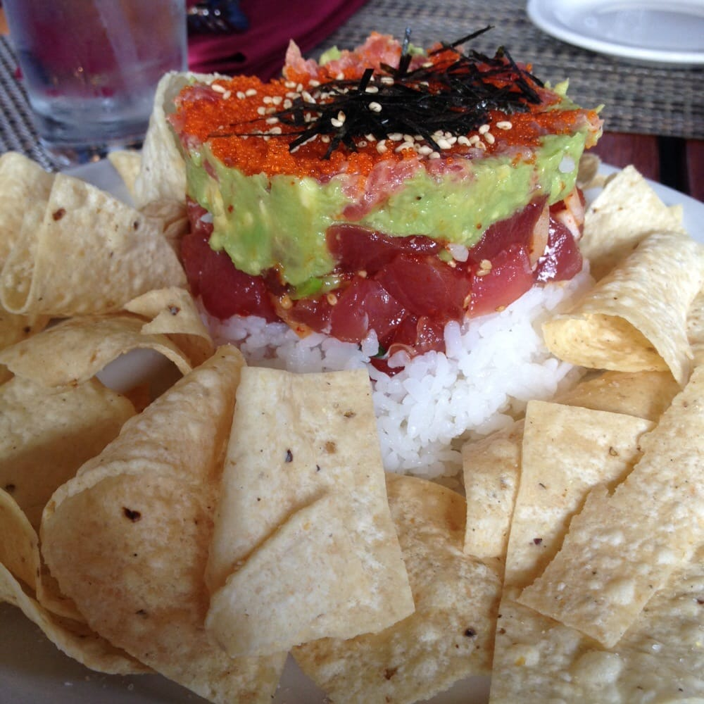 Sushi tower with corn chips yelp for Uncle s fish market and grill