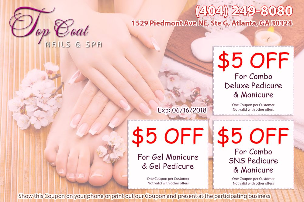Top Coat Nails & Spa: 1529 Piedmont Ave, Atlanta, GA
