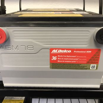 Ac Delco Battery Warranty >> 12v Group 78 Agm Battery By Ac Delco Comes With 36 Month