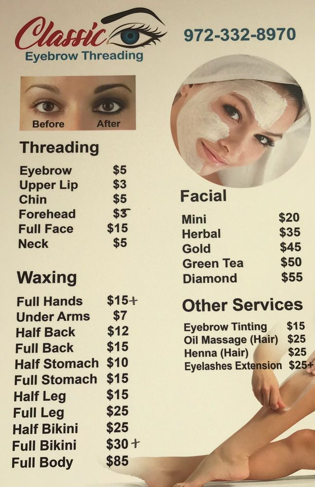 Classic Eyebrow Threading Waxing 204 N Greenville Ave Allen Tx