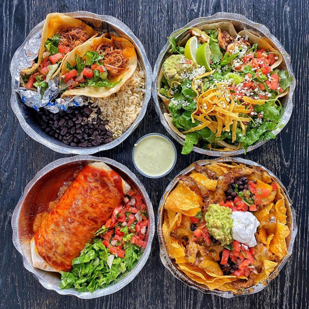Food from Cafe Rio Mexican Grill
