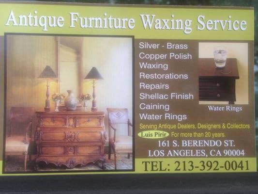 Antique Furniture Waxing Service 161 S Berendo St Los Angeles, CA Furniture  Repairing & Refinishing - MapQuest - Antique Furniture Waxing Service 161 S Berendo St Los Angeles, CA