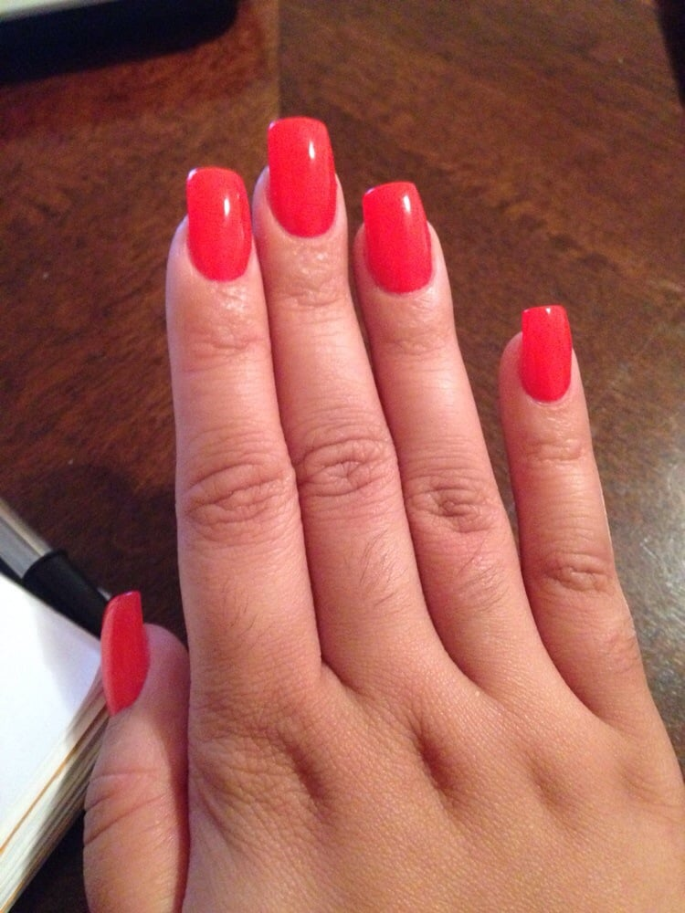 Hot pink nails ready for spring time! Gel nails done by Don! - Yelp