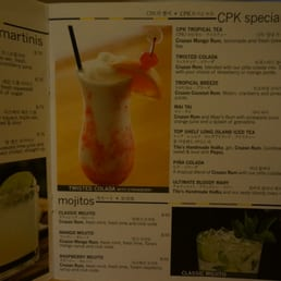 California Pizza Kitchen Drink Menu photos for california pizza kitchen | menu - yelp