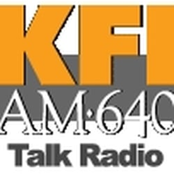 The logo for Clear Channel 640 KFI.