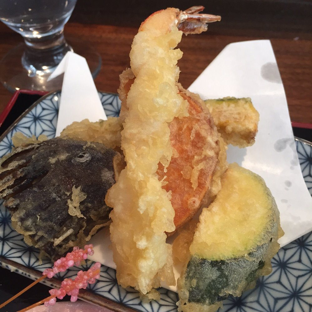 Mixed tempura part of the lunch bento yelp for Akira japanese cuisine nyc