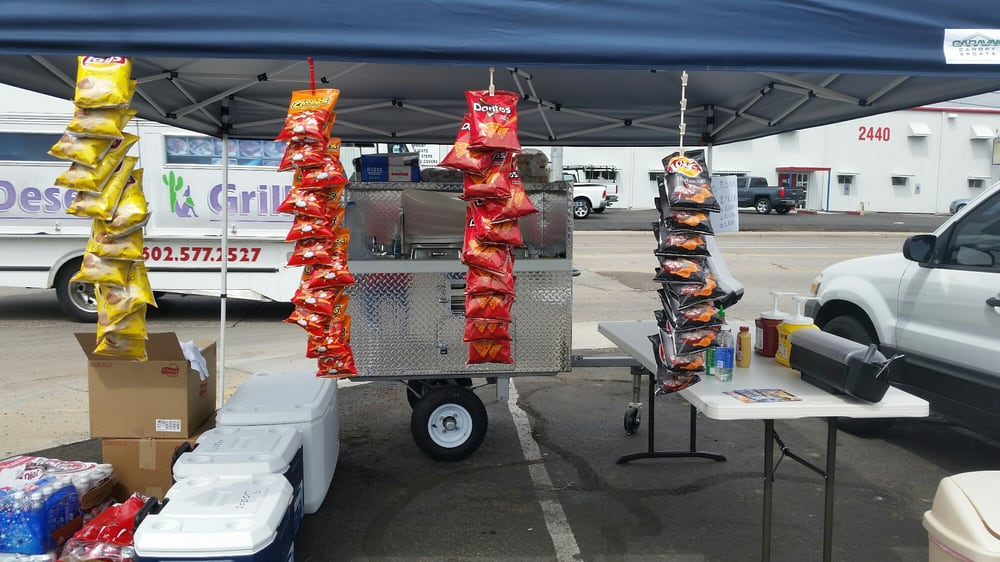 J and S Hot Dog Cart: McDowell And 25th Ave, Phoenix, AZ