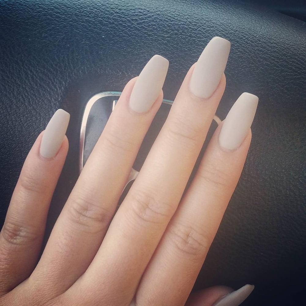 Fleeky nails on point! (By Vincent) Coffin shaped acrylics + gel ...