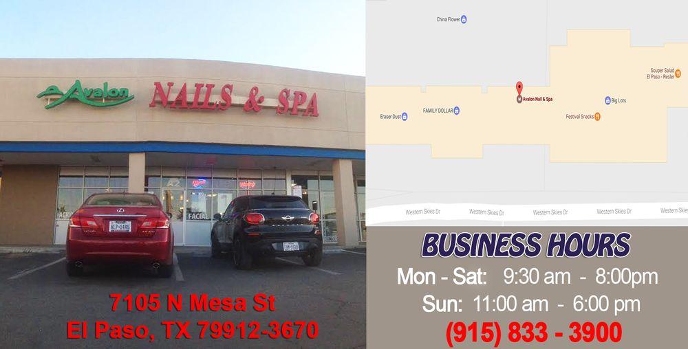 Avalon Nails: 7105 N Mesa St, El Paso, TX