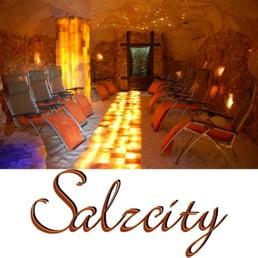 Salzgrotte - Salzzimmer - Salz-Massageraum - Massage