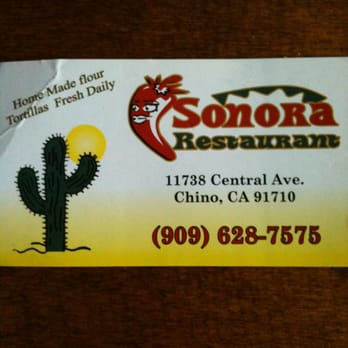 Sonora Mexican Food Chino