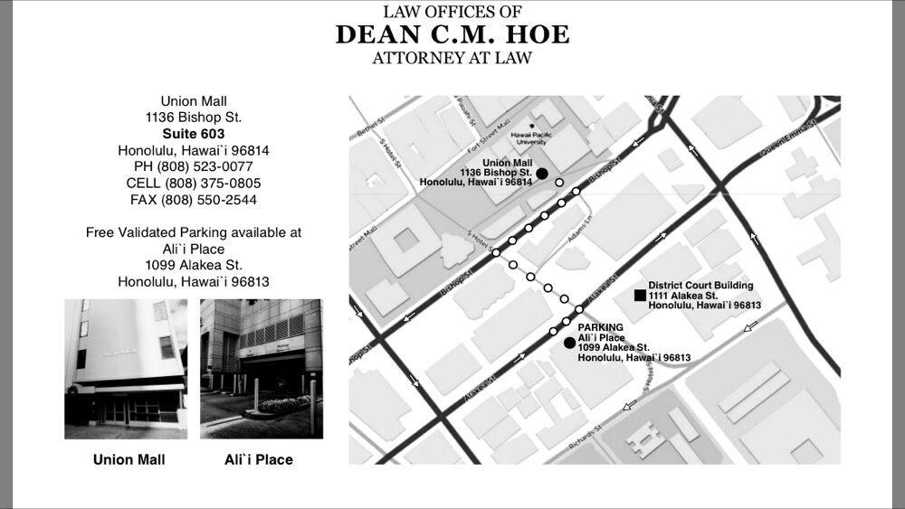 Dean Hoe 11 Reviews Dui Law 1136 Union Mall Downtown