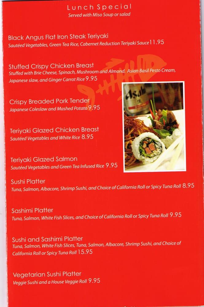 Menu pg6 yelp for Fish in a bottle menu