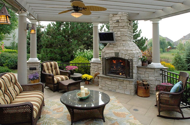 Outdoor fireplace kits yelp for Porch fireplace kit