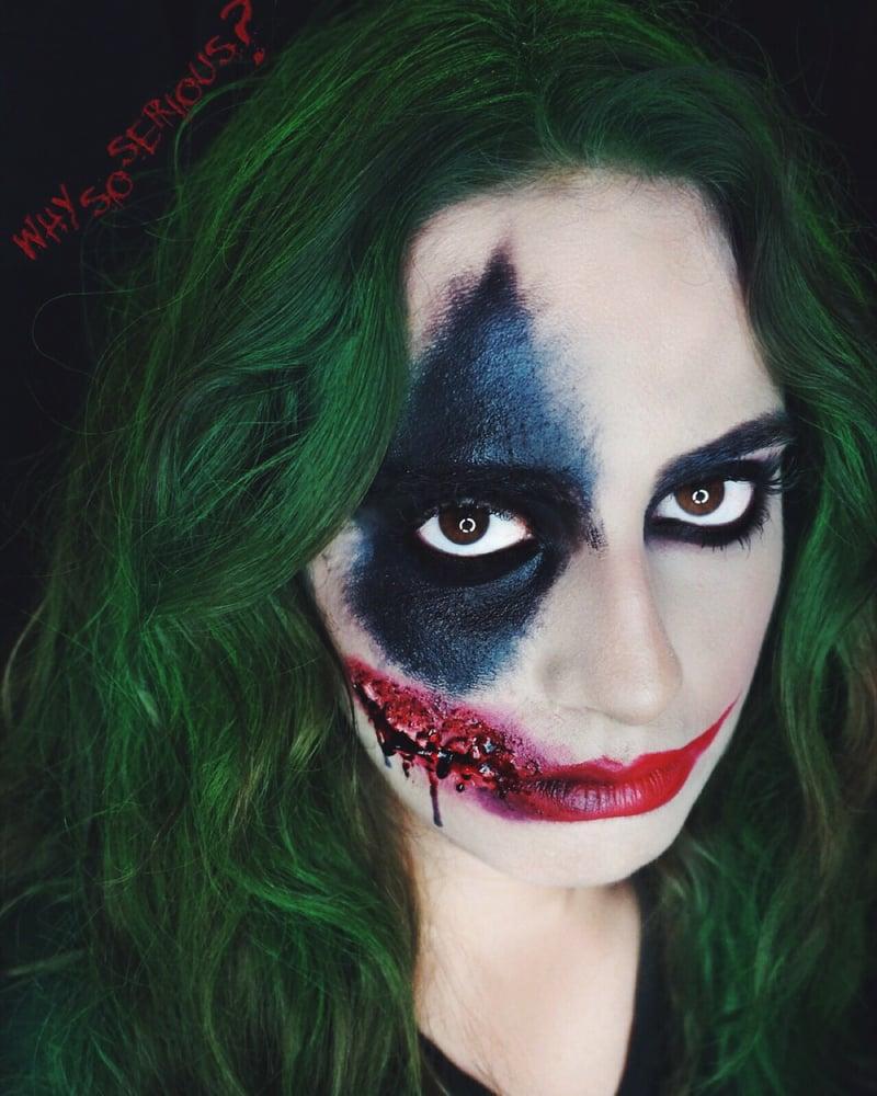 joker (half bad half good) halloween makeup - yelp