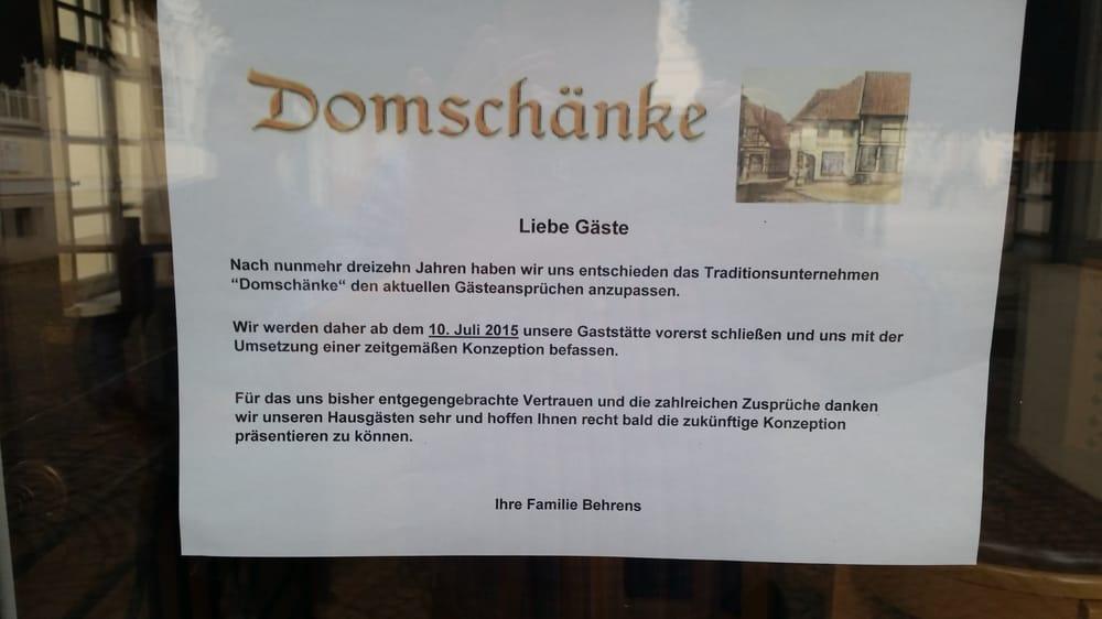 Domschänke - 10 Beiträge - Deutsch - Lugenstein 11, Verden ...