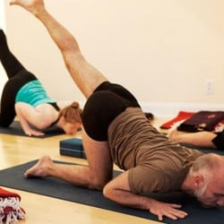 Alanas new yoga instructor gives her new pleasure