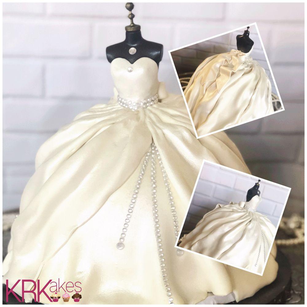 Wedding Dress Cake Bridal Shower Topper Yelp