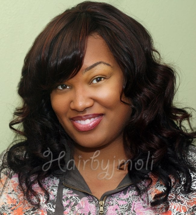 African American Full Sew in Hair weaves- San Diego. (With Virgin Indian Hair Weft Extensions ...